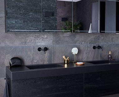 Inspiratie - Binnenkijken bij een zwarte badkamer