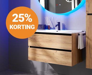 Acties - 25% korting Baden+ badkamermeubel
