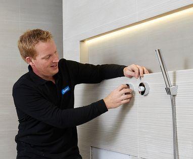 Duurzame badkamer - Polaroid badkamer installatie