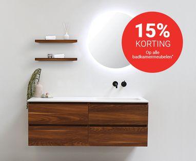 Acties - 15% korting op een badkamermeubel