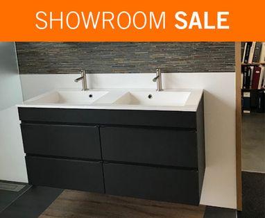 Showroom Sale - Showroomsale badmeubel met dubbele wasbak