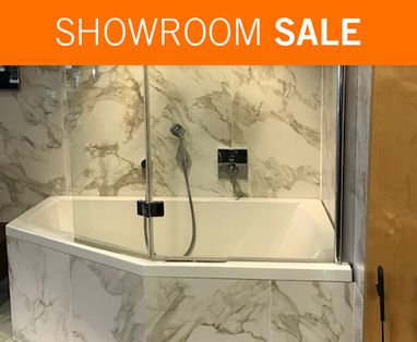 Showroom Sale - Showroomsale hoekbad met badwand
