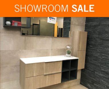 Showroom Sale - Showroomsale badmeubel Edone incl. spiegel en halfhoge kast