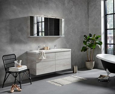 Trends - Trend: Betonlook in de badkamer