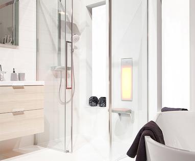 Ontspan! Radio of tv in de badkamer - 5 voordelen van de Sunshower Pure