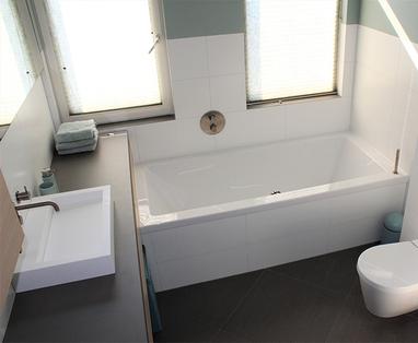 Inspiratie - Trendy familiebadkamer in Den Bosch