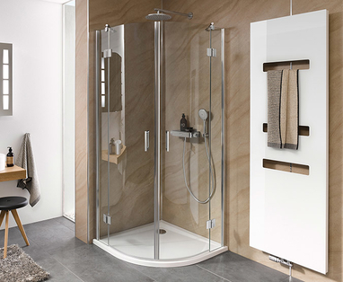 5 kleine badkamer voorbeelden - Douchecabine voor een kleine badkamer