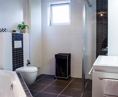 Inspiratie - Zwart-wit badkamer in Kaatsheuvel