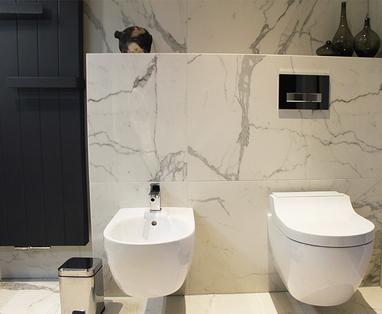 Inspiratie - Marmeren badkamer in Zaltbommel
