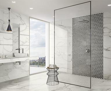 Maak een moodboard van je badkamerwensen - Tegeltrends van dit moment