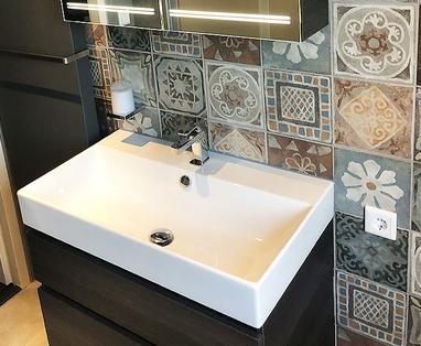 Binnenkijkers - Badkamer met decortegels in Gouda