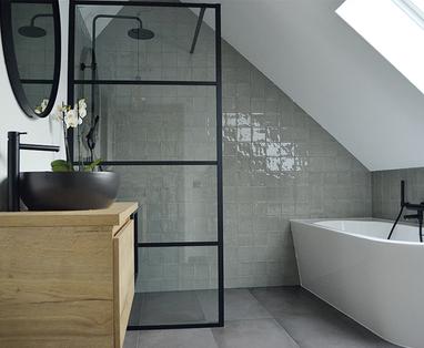 Inspiratie - Industriële badkamer in Halsteren