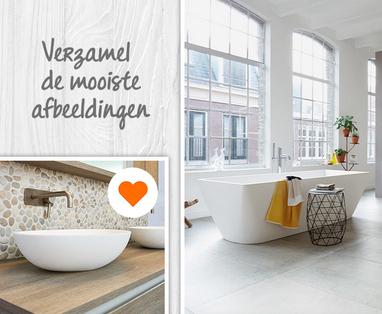 Kleur in de badkamer - Maak een moodboard van je badkamerwensen