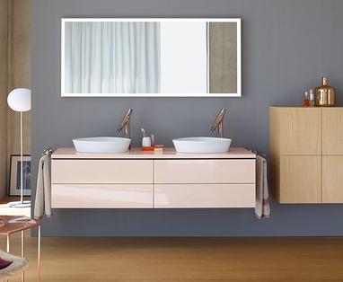 Kleur in de badkamer - Pastelkleuren in de badkamer
