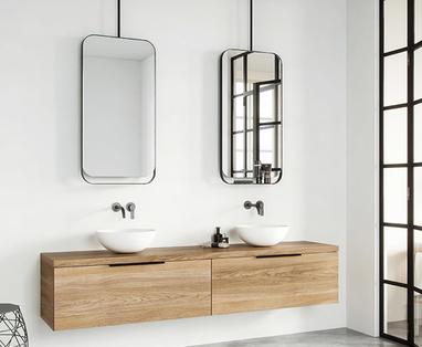 5 kleine badkamer voorbeelden - badkamerspiegel 4 trends