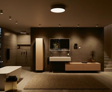 Grote badkamer indelen - Badkamerverlichting kiezen