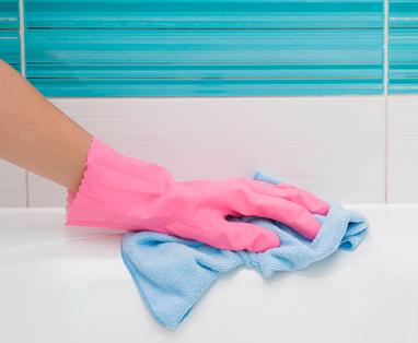 Bad in de slaapkamer - Bad schoonmaken