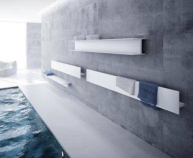 Trend: blauw in de badkamer - Badkamerradiator trends