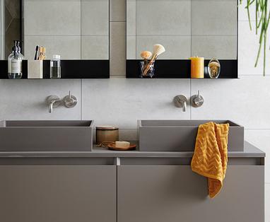 Inspiratie: 4x zwart in de badkamer - Trend: Betonlook in de badkamer