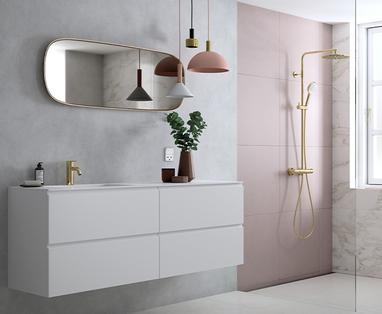 Pastelkleuren in de badkamer - Trend: Peaceful oasis