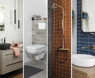 Douchecabine voor een kleine badkamer - 5 kleine badkamer voorbeelden