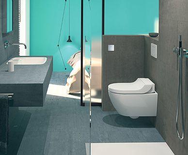 Geberit Rimfree toilet - Geberit AquaClean Tuma douchewc