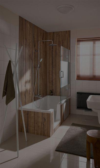 Baden en douchen in één