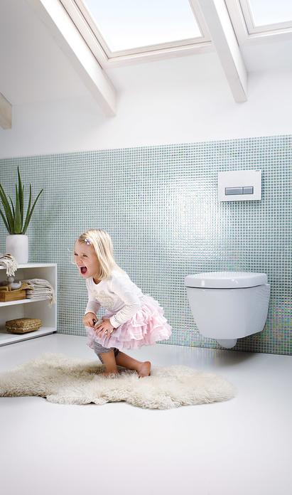 Familie badkamer met Geberit toilet