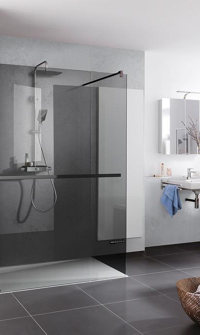 Luxe badkamer - op maat gemaakte ruime inloopdouche