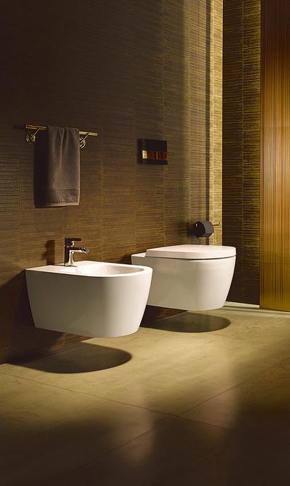 Luxe badkamer - toilet en bidet van Duravit Me by Starck