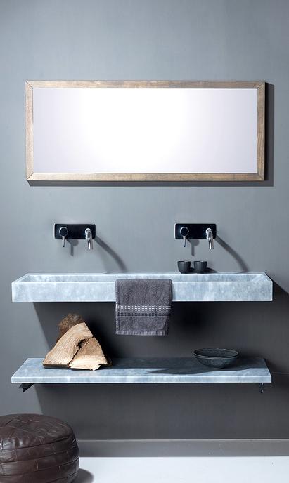 Luxe badkamer - natuurstenen wastafel
