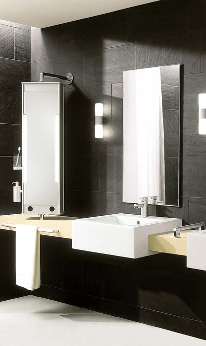 Comfort badkamer - wasmeubel met draaibare spiegel