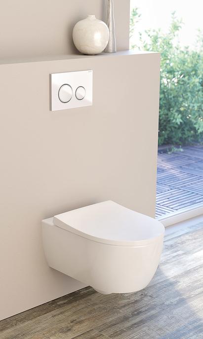 Moderne badkamer - hangtoilet met strak design