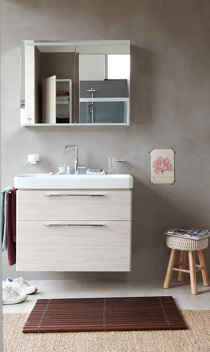 Badkamers - compact badkamermeubel met inbouw waskom