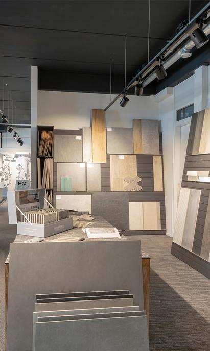 Gitsels Badkamers showroom tegelafdeling