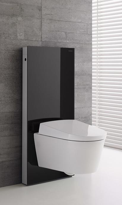 Geberit Monolith toilet reservoir zwart