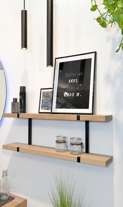 Kleine badkamer - Plankjes als extra opberg optie