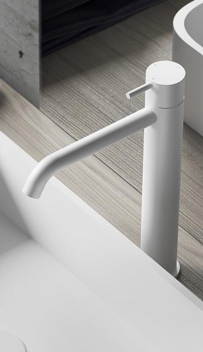 Hotbath Cobber opbouw wastafelkraan, wit