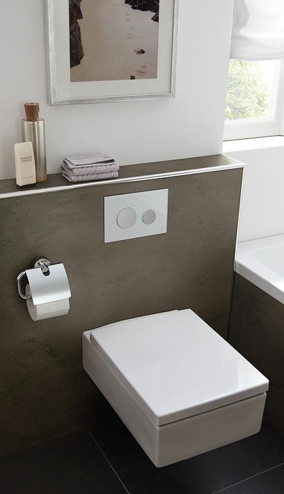 HSK Renodeco - wandbekleding toilet en bad - zandsteen terra bruin