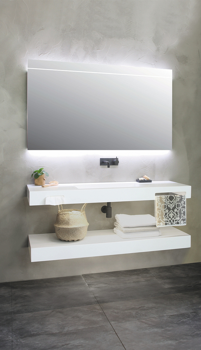 Modern wit zwevend badkamermeubel