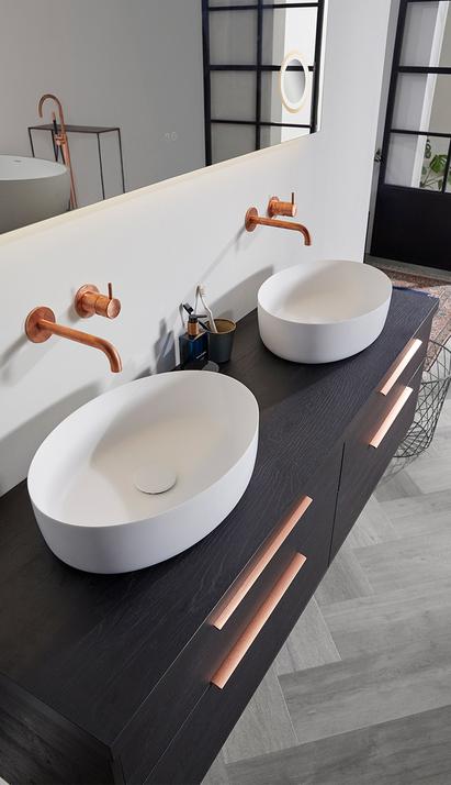 Thebalux - Ceramic - breed badkamermeubel - San Remo houtkleur