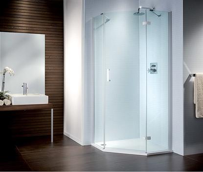 Familie badkamer met douchecabine van Sealskin