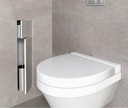 Kleine badkamer - inbouwbox voor toiletrollen