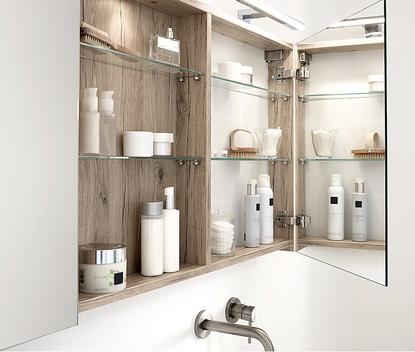 Kleine badkamer - Spiegelkast voor extra opbergruimte