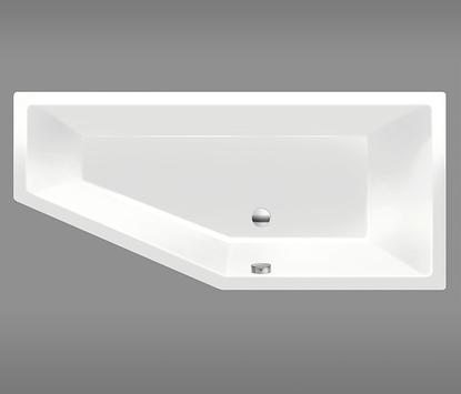 Kleine badkamer - Douchebad met afgeschuinde hoek
