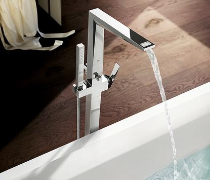 Badkamerkraan vrijstaand hoekig design