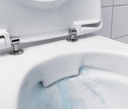 Toilet - randloos toilet voorbeeld van looprichting water