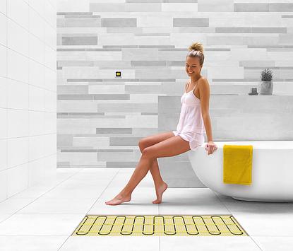 Verwarming in de badkamer - vloerverwarming