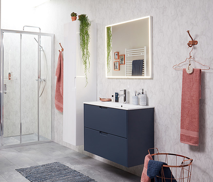 Wastafels voor de kleine badkamer ingebouwd in badmeubel