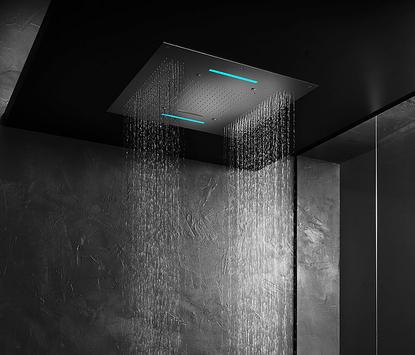 Luxe badkamer - unieke vierkante regendouche